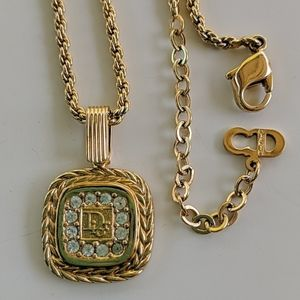 Dior gold finish necklace